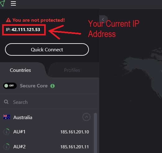 left panel ip address