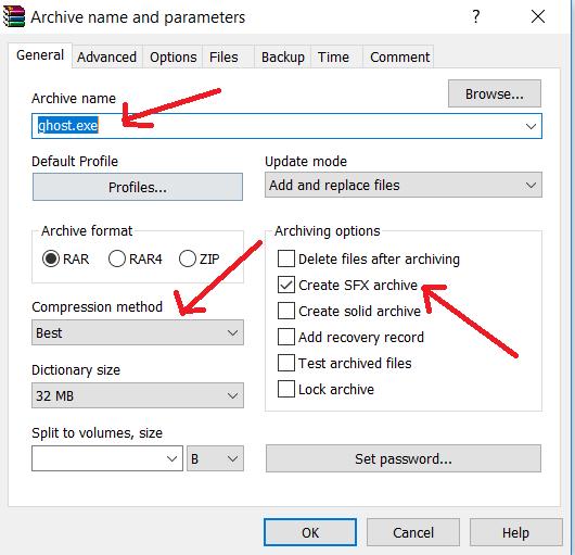 general tab settings