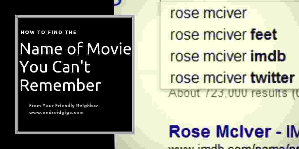 how to find the name of a movie you cant remember