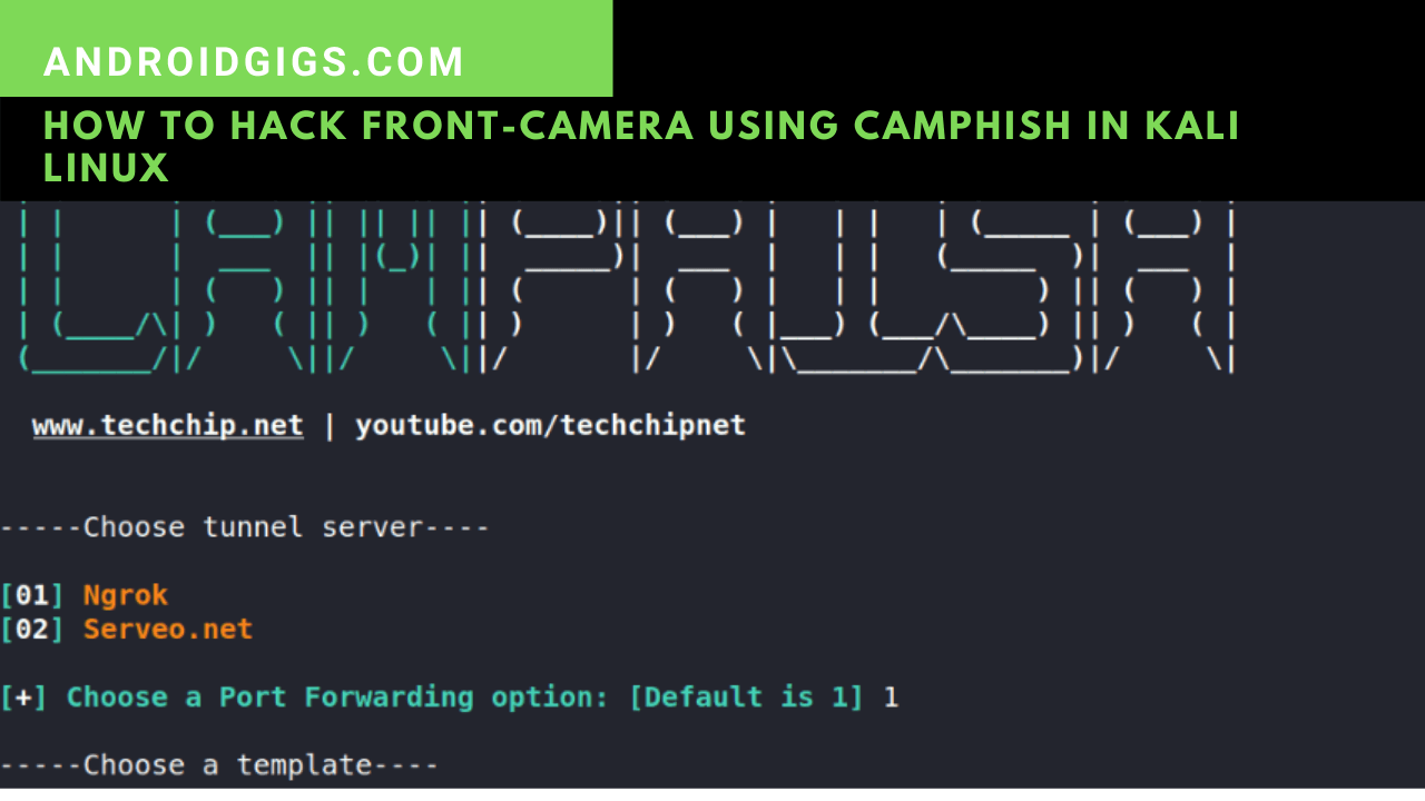 how to hack front camera using kali linux
